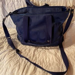 Coach satchel in navy blue